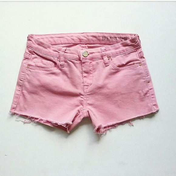 Blank NYC Pants - Blank NYC Pink Cut Off Stretch Jean Shorts